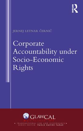 Corporate Accountability under Socio-Economic Rights (Hardback) book cover