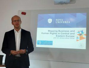 """Udeležba dr. Jerneja Letnarja Černiča na mednarodni konferenci o """"Spoštovanju človekovih pravic v gospodarstvu"""""""