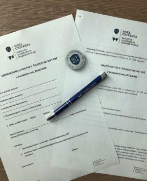 Razpis volitev v študentski svet FDŠ NU