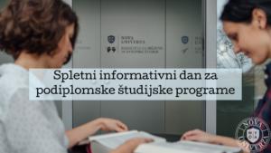 Spletni informativni dan za podiplomske študijske programe