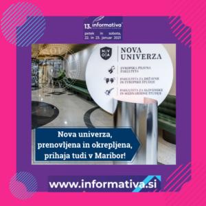 Nova univerza na sejmu Informativa